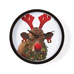 Christmas Cow Wall Clock