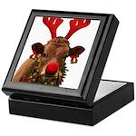Christmas Cow Keepsake Box