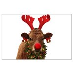 Christmas Cow Large Poster