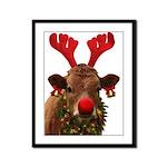Christmas Cow Framed Panel Print