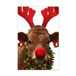 Christmas Cow Mini Poster Print