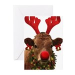 Christmas Cow Greeting Cards (Pk of 20)