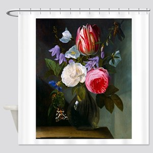 Roses and Tulips in a Glass Vase by Jan Philips va