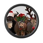 Santa & Friends Large Wall Clock
