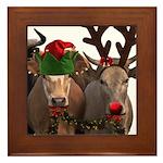 Santa & Friends Framed Tile
