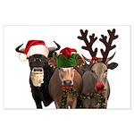 Santa & Friends Large Poster
