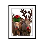 Santa & Friends Framed Panel Print