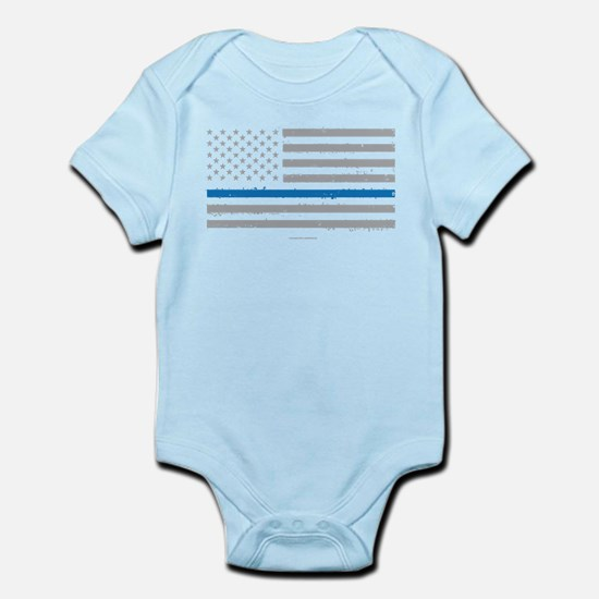 Law Enforcement Blue Line Flag Body Suit
