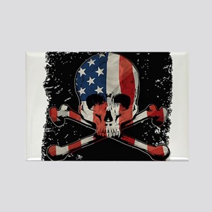 Skull with American Flag Magnets