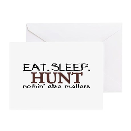 Eat Sleep Hunt Greeting Cards (Pk of 10)