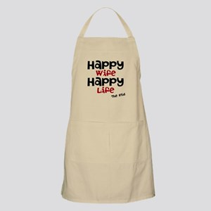 Happy Wife Happy Life The End Apron