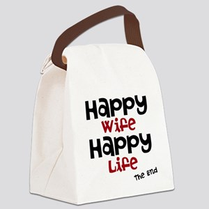 Happy Wife Happy Life The End Canvas Lunch Bag