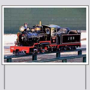 Miniature steam train engine, Amelia Yard Sign