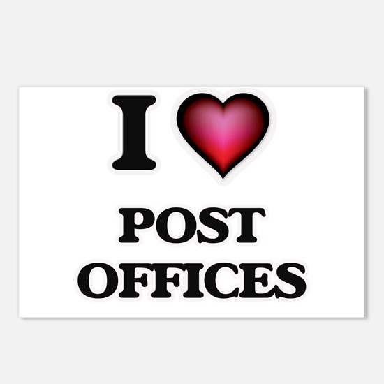 I love Post Offices Postcards (Package of 8)