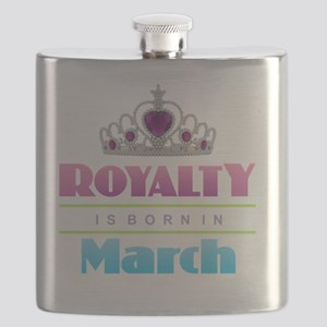 Royalty is Born in March Flask