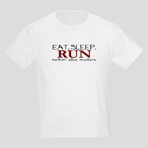 Eat Sleep Run Kids Light T-Shirt