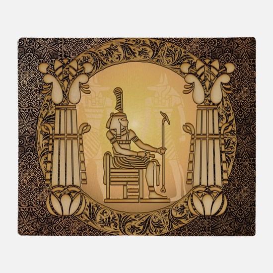 Egyptian sign and anubis Throw Blanket