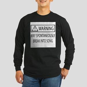 Spontaneous Singer BW Long Sleeve T-Shirt