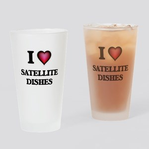 I love Satellite Dishes Drinking Glass