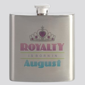 Royalty is Born in August Flask