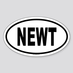 NEWT Oval Sticker