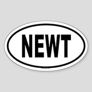 NEWT Oval Sticker