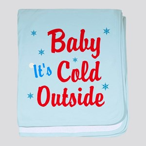 Baby Its Cold Outside baby blanket
