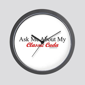 """""""Ask About My Cuda"""" Wall Clock"""