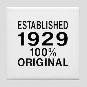 Established In 1929 Tile Coaster