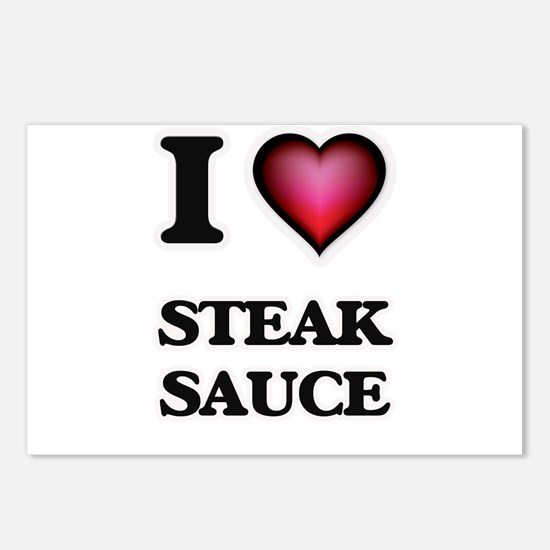 I love Steak Sauce Postcards (Package of 8)