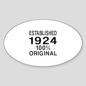 Established In 1924 Sticker (Oval)