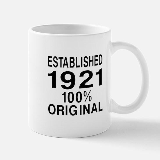 Established In 1921 Mug