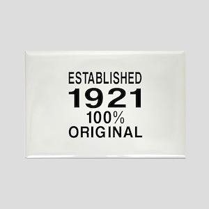 Established In 1921 Rectangle Magnet