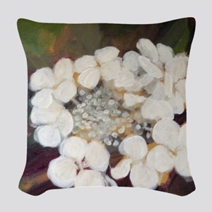 Oakleaf Hydrangea Woven Throw Pillow