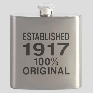 Established In 1917 Flask