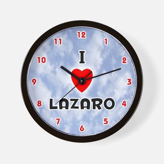 I Love Lazaro (Red/Blk) Valentine Wall Clock