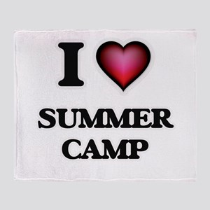 I love Summer Camp Throw Blanket