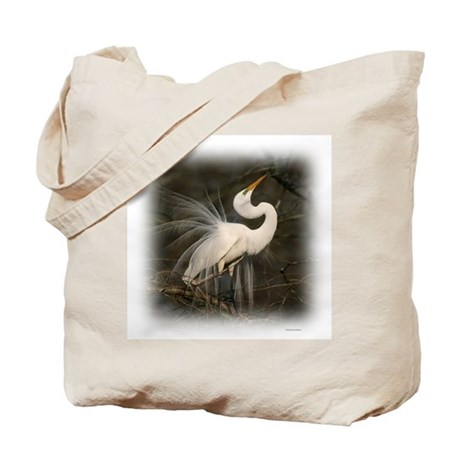 Graceful Egret Tote Bag