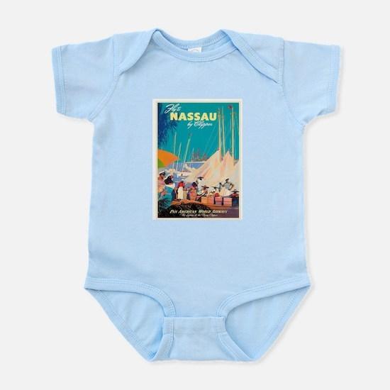 Nassau Bahamas Vintage Travel Poster Body Suit