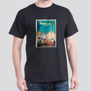 Nassau Bahamas Vintage Travel Poster T-Shirt