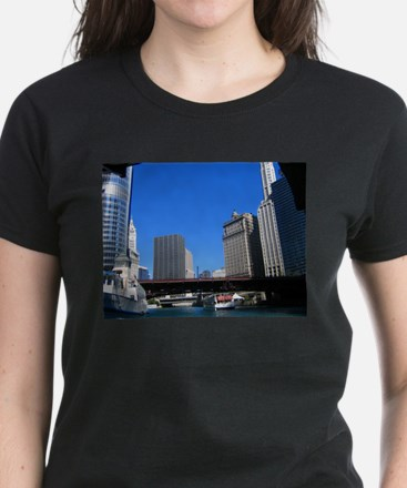 Chicago River Women's Dark T-Shirt