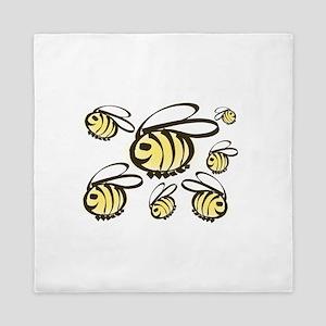 Happy Bees! Queen Duvet