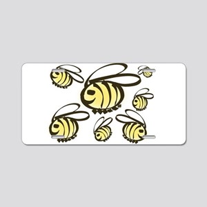 Happy Bees! Aluminum License Plate