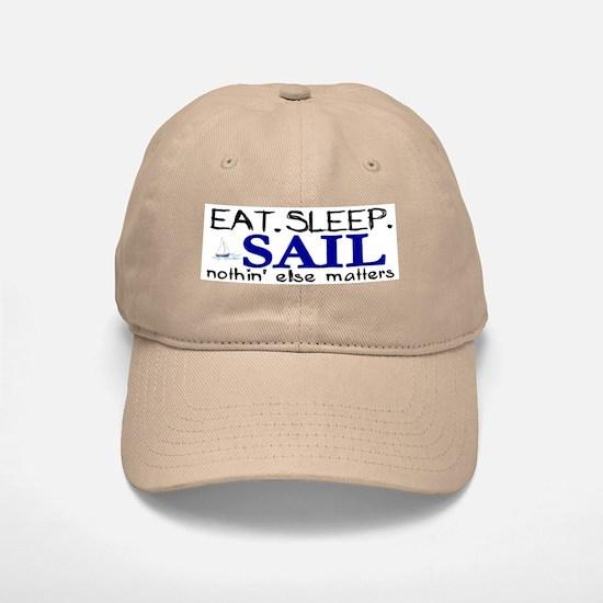 Eat Sleep Sail Baseball Baseball Cap