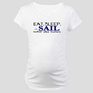 Eat Sleep Sail Maternity T-Shirt