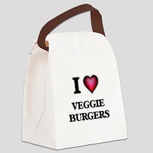 I love Veggie Burgers Canvas Lunch Bag