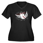 Love Without Labels Women's Plus Size V-Neck Dark