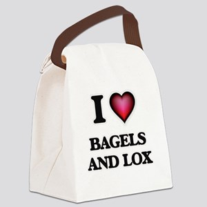 I love Bagels And Lox Canvas Lunch Bag