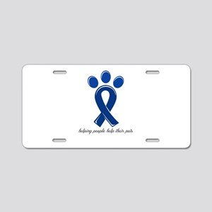 helping people help their p Aluminum License Plate