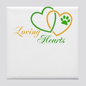 loving hearts Tile Coaster